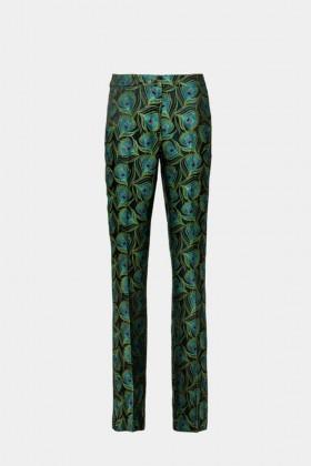 Pantalone fantasia pavone - Giuliette Brown - Noleggio Drexcode - 1