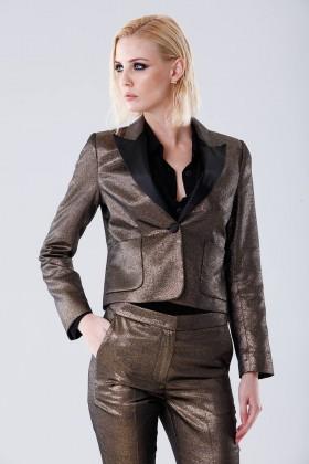 Completo giacca e pantalone dorati  - Giuliette Brown - Noleggio Drexcode - 2