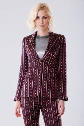 Completo giacca e pantalone con fantasia chain - Giuliette Brown - Noleggio Drexcode - 2