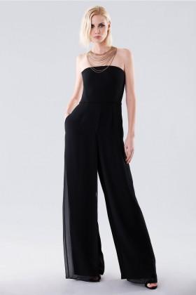 Jumpsuit nera bustier - Halston - Noleggio Drexcode - 1