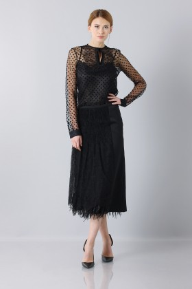 Gonna longuette in tulle - Rochas - Vendita Drexcode - 2