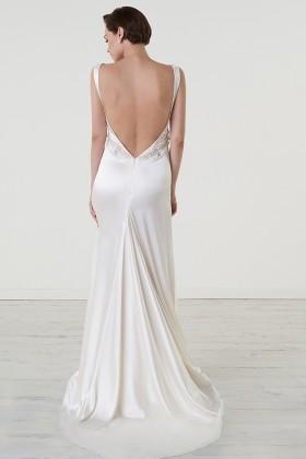 Abito da sposa con cintura di pietre - Iris Noble - Noleggio Drexcode - 2