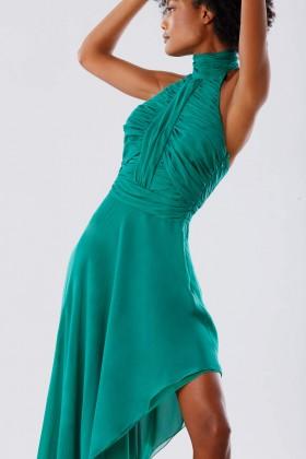 Abito asimmetrico verde con schiena scoperta  - Kathy Heyndels - Noleggio Drexcode - 2