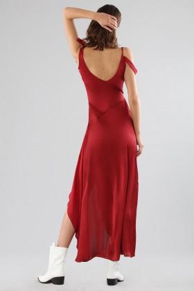 Abito rosso con fiocchi applicati e scollature profonde - For Love and Lemons - Noleggio Drexcode - 2