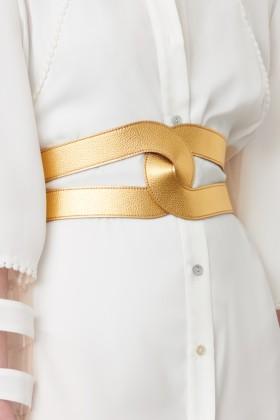 Cintura in pelle oro - Maison Vaincourt - Vendita Drexcode - 1