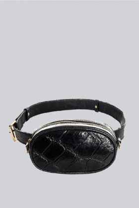 Marsupio clutch pelle nera - AM - Vendita Drexcode - 2