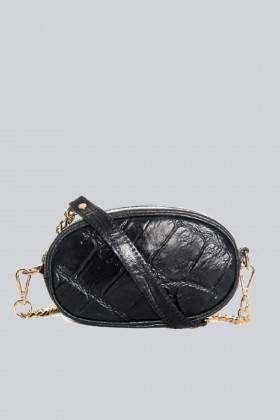 Marsupio clutch pelle nera - AM - Vendita Drexcode - 1