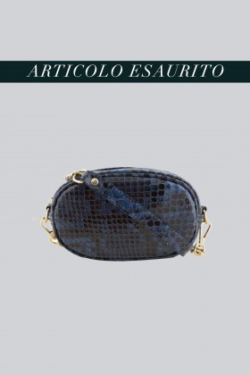 Marsupio clutch pitonato bluAM