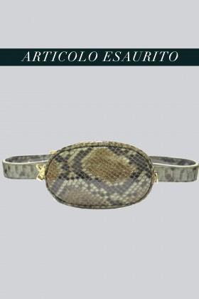 Marsupio clutch pitonato verde - AM - Vendita Drexcode - 1