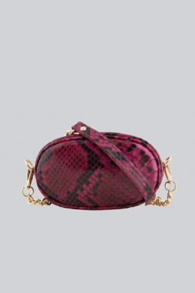 Marsupio clutch pitonato bordeaux - AM - Vendita Drexcode - 2