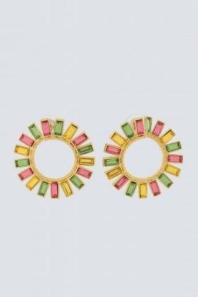 Orecchini multi-color con fiori - Natama - Noleggio Drexcode - 1