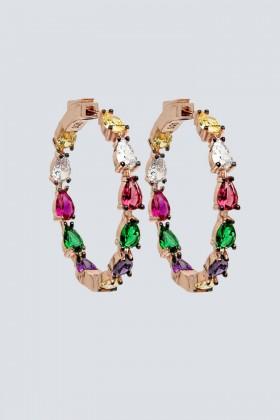 Orecchini a cerchio con pietra multicolore - Nickho Rey - Noleggio Drexcode - 1