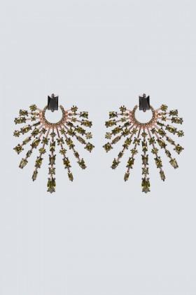 Orecchini chandelier con pietra verde - Nickho Rey - Vendita Drexcode - 1