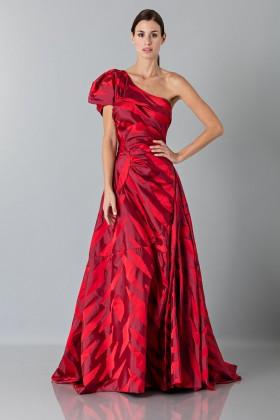 Abito rosso monospalla con manica a sbuffoVivienne Westwood