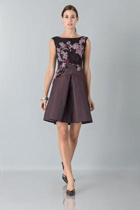 Mini abito con ricamo florealeAntonio Marras