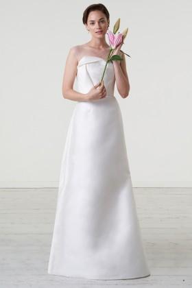 Abito da sposa in magnolia e organza di seta - Peter Langner - Noleggio Drexcode - 2
