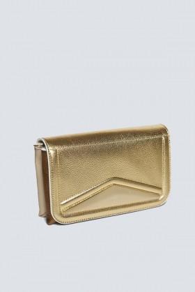 Clutch oro rigida - Vionnet - Noleggio Drexcode - 1