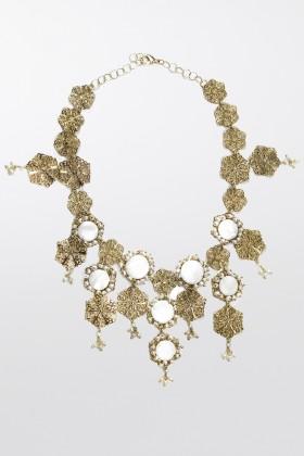 Collana in ottone e perle d'acqua dolce - Rosantica - Vendita Drexcode - 2