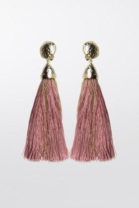 Orecchini in corda oro e rosaRosantica