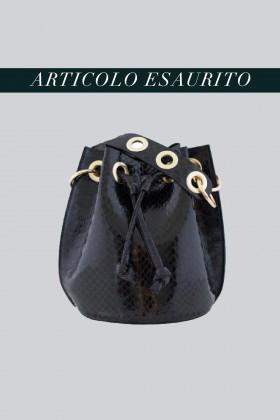 Mini secchiello nero in vernice stampata  - AM - Vendita Drexcode - 1