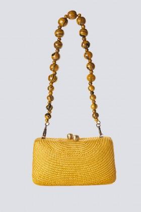 Clutch gialla in paglia - Serpui - Noleggio Drexcode - 2