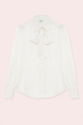 Camicia bianca in seta con fiocco - Redemption - Noleggio Drexcode - 1