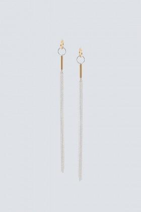 Orecchini tassel placcati argento - Noshi - Vendita Drexcode - 1