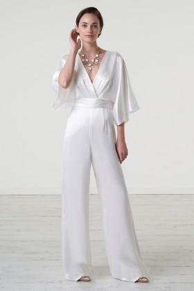 jumpsuit con scollo a V e fascia in vita - Theia - Noleggio Drexcode - 1