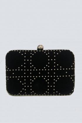 Clutch nera con borchie - Anna Cecere - Noleggio Drexcode - 1