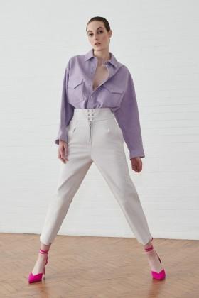 Completo camicia e pantalone in suede - IRO - Vendita Drexcode - 1