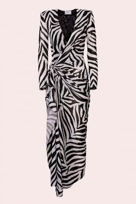 Abito lungo stampa zebra - Redemption - Vendita Drexcode - 1