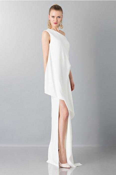 brand new 073f5 aa774 Vestito lungo monospalla bianco