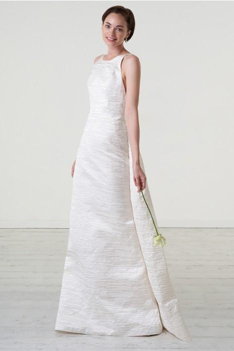 quality design 4e281 1fed3 Abito da sposa con scollatura americana in shantung
