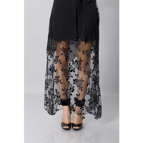 Vendita Abbigliamento Usato FIrmato - Tunica in seta decorata - Blumarine - Drexcode -4