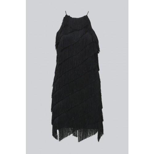 Vendita Abbigliamento Usato FIrmato - Abito corto con frange - Halston - Drexcode -1