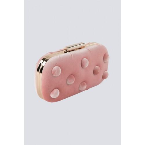 Vendita Abbigliamento Usato FIrmato - Clutch rosa in velluto - Anna Cecere - Drexcode -1