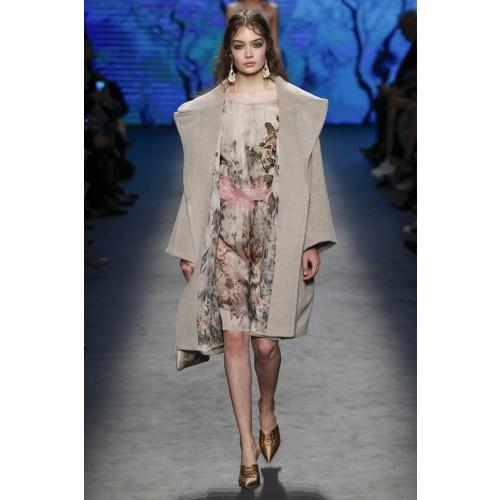 Vendita Abbigliamento Usato FIrmato - Abito in chiffon di seta con motivo floreale - Alberta Ferretti - Drexcode -1