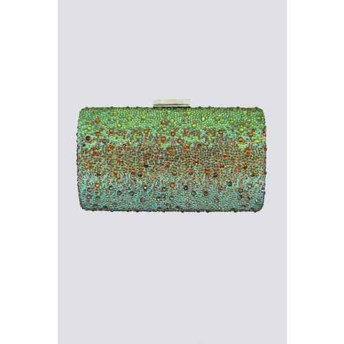 Vendita Abbigliamento Usato FIrmato - Clutch degrade verde arancio - Anna Cecere - Drexcode -2