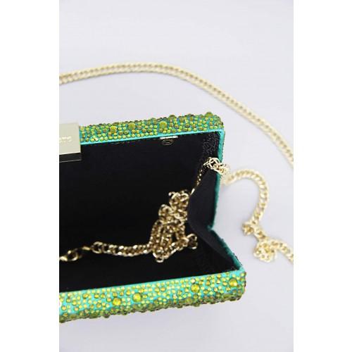 Vendita Abbigliamento Usato FIrmato - Clutch degrade verde arancio - Anna Cecere - Drexcode -3