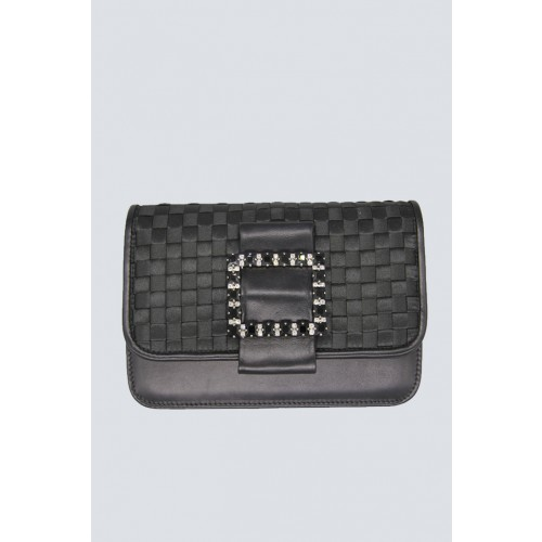 Vendita Abbigliamento Usato FIrmato - Clutch nera intrecciata - Emanuela Caruso - Drexcode -1
