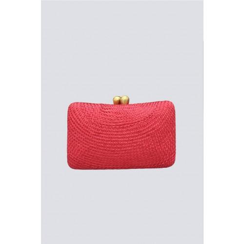 Vendita Abbigliamento Usato FIrmato - Clutch rossa in paglia - Serpui - Drexcode -1