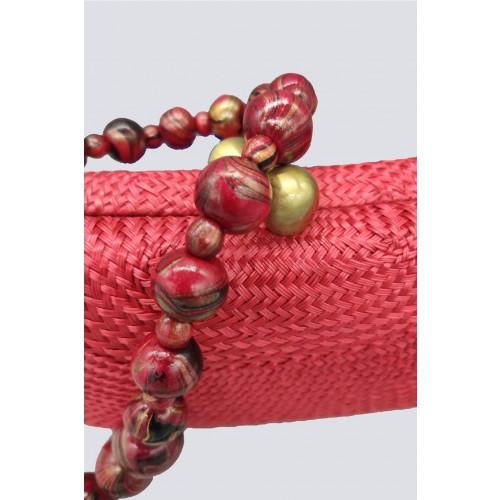 Vendita Abbigliamento Usato FIrmato - Clutch rossa in paglia - Serpui - Drexcode -2