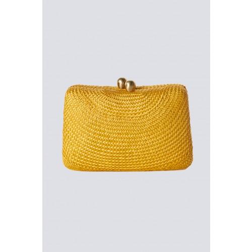 Vendita Abbigliamento Usato FIrmato - Clutch gialla in paglia - Serpui - Drexcode -2