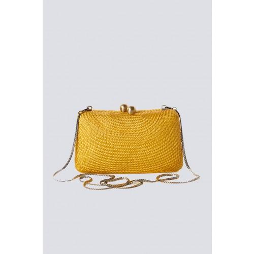 Vendita Abbigliamento Usato FIrmato - Clutch gialla in paglia - Serpui - Drexcode -3