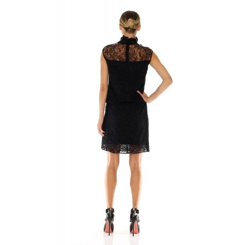 Vendita Abbigliamento Usato FIrmato - Abito in pizzo a collo alto - Nina Ricci - Drexcode -3
