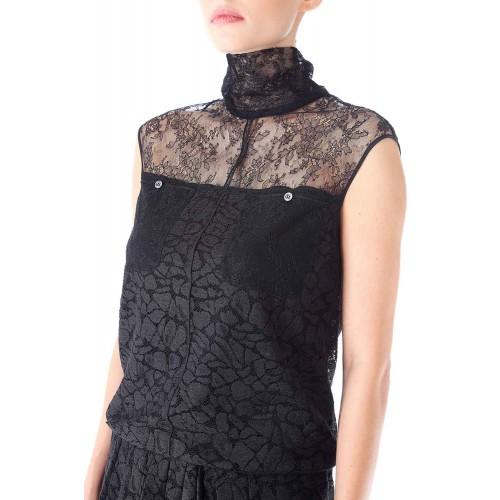 Vendita Abbigliamento Usato FIrmato - Abito in pizzo a collo alto - Nina Ricci - Drexcode -4
