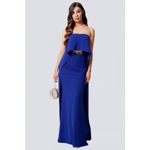 Vendita Abbigliamento Usato FIrmato - Abito blu con drappeggio - Forever unique - Drexcode -1