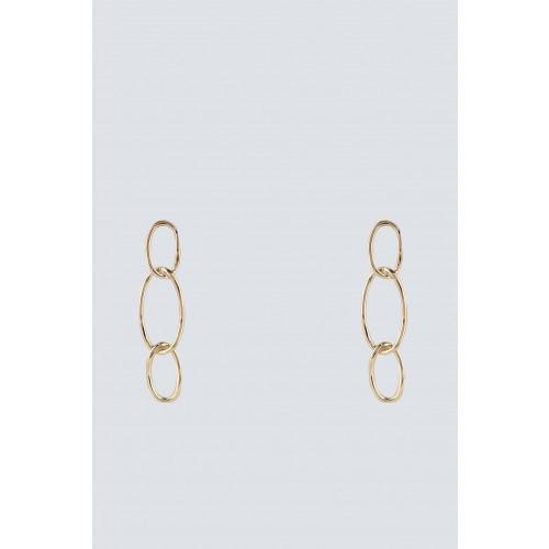 Vendita Abbigliamento Usato FIrmato - Orecchini oro con pendenti ovali - Federica Tosi - Drexcode -1