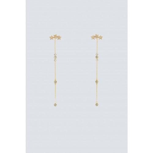 Vendita Abbigliamento Usato FIrmato - Pendenti oro lunghi con stelline - Federica Tosi - Drexcode -1