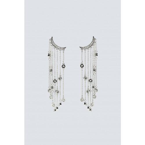 Vendita Abbigliamento Usato FIrmato - Orecchini multipendenti argento lunghi - Federica Tosi - Drexcode -1